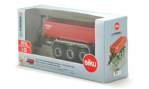 Siku 6786 3-Achs-Hakenliftfahrgestell mit Mulde