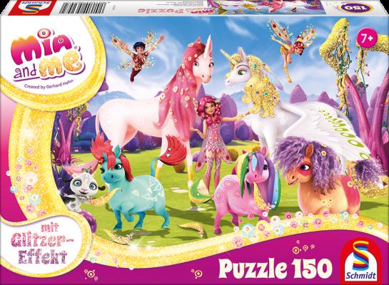 Puzzle: Ankunft der Pony-Einhörner, 150 Teile